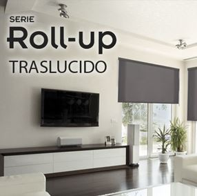 Estor  ROLL-UP enrollable traslucido
