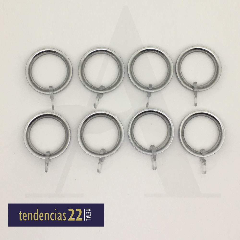 Anillas PLANA Tendencias 22 cromo 22mm